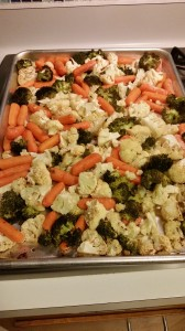 Baked Veggies after