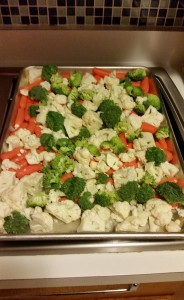 Baked Veggies before