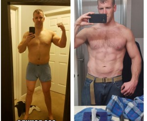 Travis Before and 1 Week Out